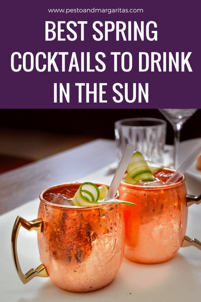 Spring is when the sun starts to shine and there's nothing nicer than sitting in the garden with a cocktail in the sun.  Here are some cocktail recipes for sunny evenings - pin to read later!