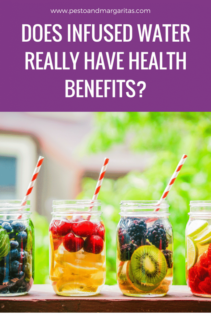 Does infused water really have health benefits?  Drinking water is important but adding fruit to it adds extra benefits as well as giving the water a great taste.  Pin to read later!