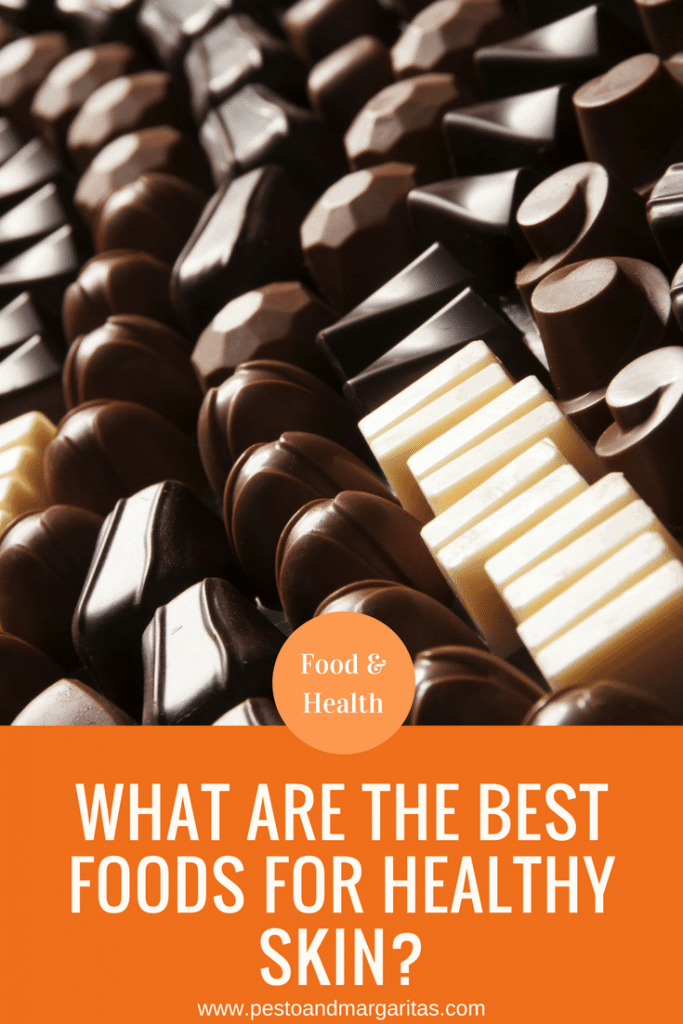What we eat can have an impact on our skin but are there certain foods that are better for healthy skin than others?  Hint in the picture - there's good news included!  Click to read more