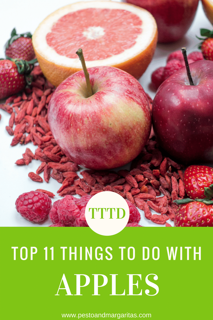 Apples come in so many different colours and flavours but there are also lots of things you can do with them from making applesauce to including them in smoothies.  Here are 11 ideas for your next bag of apples.