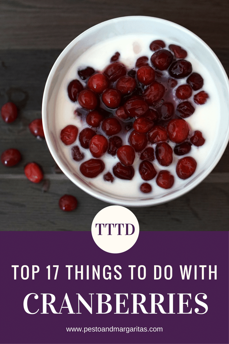 Cranberries are well known as a part of Christmas lunch or Thanksgiving in the US.  And while they taste great there are lots more reasons to eat them - and a lot more you can do with them beyond cranberry sauce.  Here are 17 simple recipes and ideas