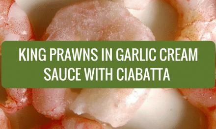 King Prawns in Garlic Cream Sauce with Ciabatta