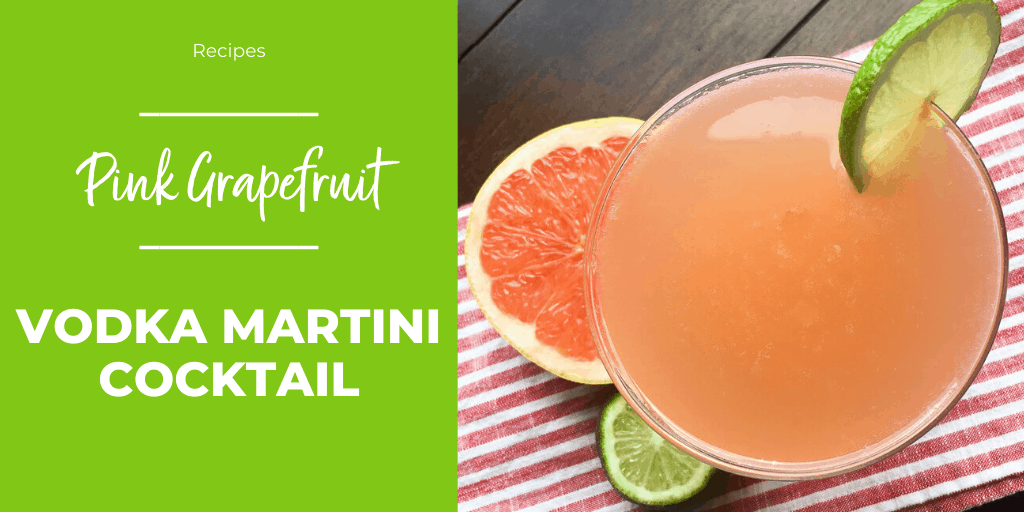 pink grapefruit vodka martini